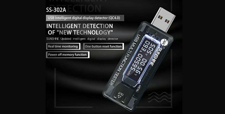 Good USB Intelligent digital display detector,good mobile phone repair tools